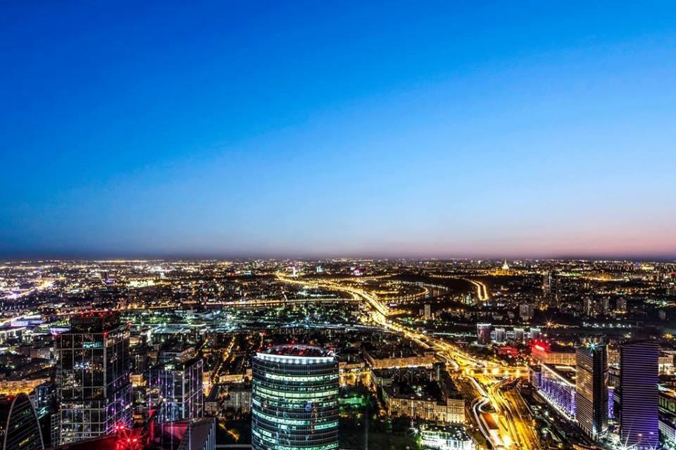 Панорамный вид из ресторана Ruski
